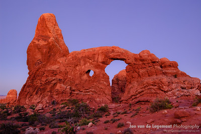 Turret arch just before dawn