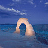 Delicate Arch in Arches National Park.  Light painted about an hour after sunset.