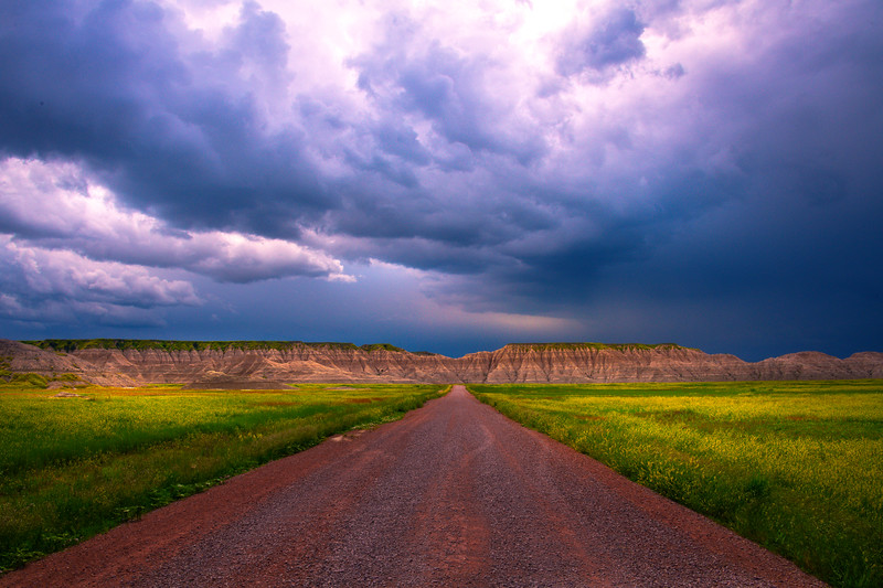 Dark Skies Paint The Landscape - Badlands National Park, South Dakota