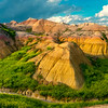 Pano Of The Badlands And Sweet Clover - Badlands National Park, South Dakota
