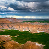 Thunder Showers On The Overlook - Badlands National Park, South Dakota