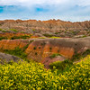 Pano Of Sweet Clover and Rainbow Canyon - Badlands National Park, South Dakota