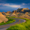 Rounding The Corner Into Badlands - Badlands National Park, South Dakota