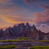 The King Of The Thrones Under Red Skies - Badlands National Park, South Dakota