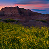 The Moment Of Tranquilty After Sunset - Badlands National Park, South Dakota