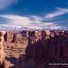 Canyonlands arch and Manti La Sals