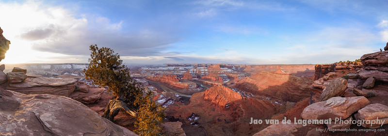 Dead Horse Point sunrise panorama
