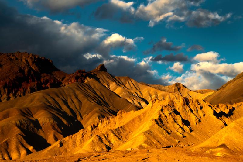 Last Light On The Front Light Peaks - Death Valley National Park, Eastern Sierras, California