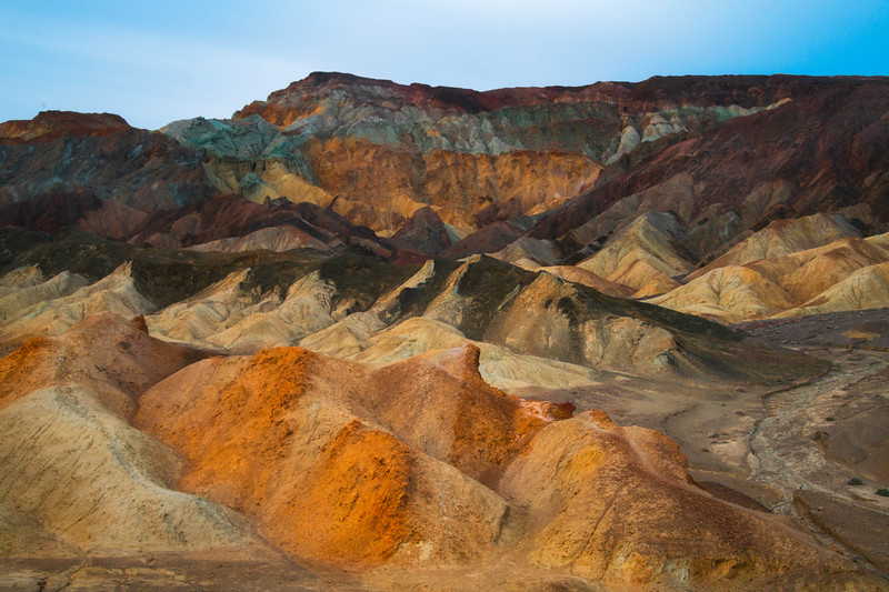 Mosiac Of Death Valley Colors - Death Valley National Park, Eastern Sierras, California