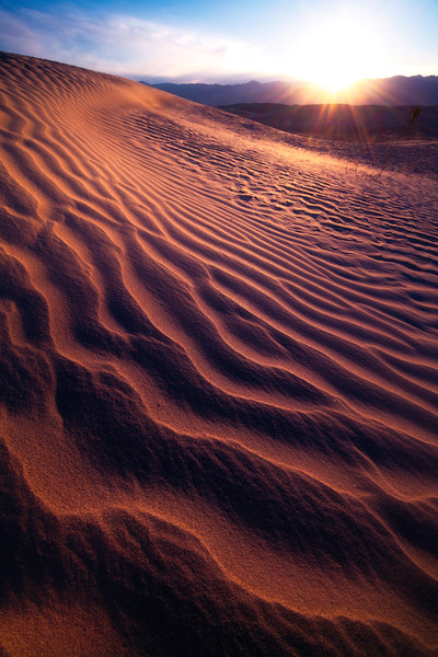 Rolling With Ripples Into The Turn - Death Valley National Park, Eastern Sierras, California