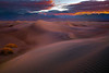 Ripples Of Morning Light In The Dunes with Blue - Death Valley National Park, Eastern Sierras, California
