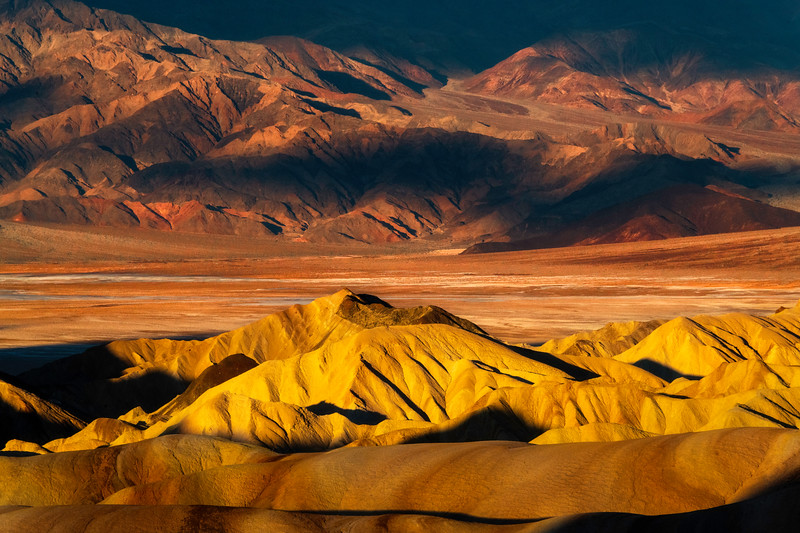 The Layers Of Colors And Textures Within Death Valley - Death Valley National Park, Eastern Sierras, California