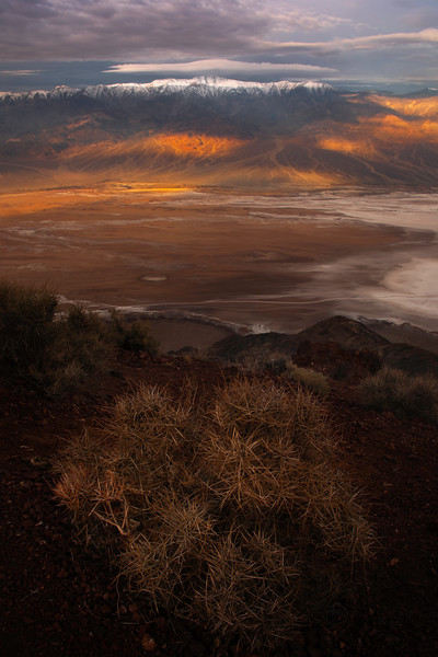 Overlooking The Valley From Dantes View - Death Valley National Park, Eastern Sierras, California