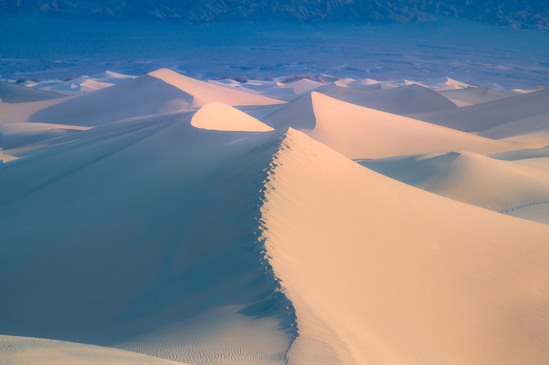 The Soft Light Hitting The Dunes - Death Valley National Park, Eastern Sierras, California