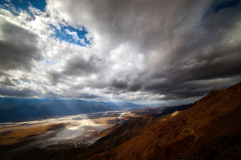 Looking Through The Heart Of Death Valley - Death Valley National Park, Eastern Sierras, California