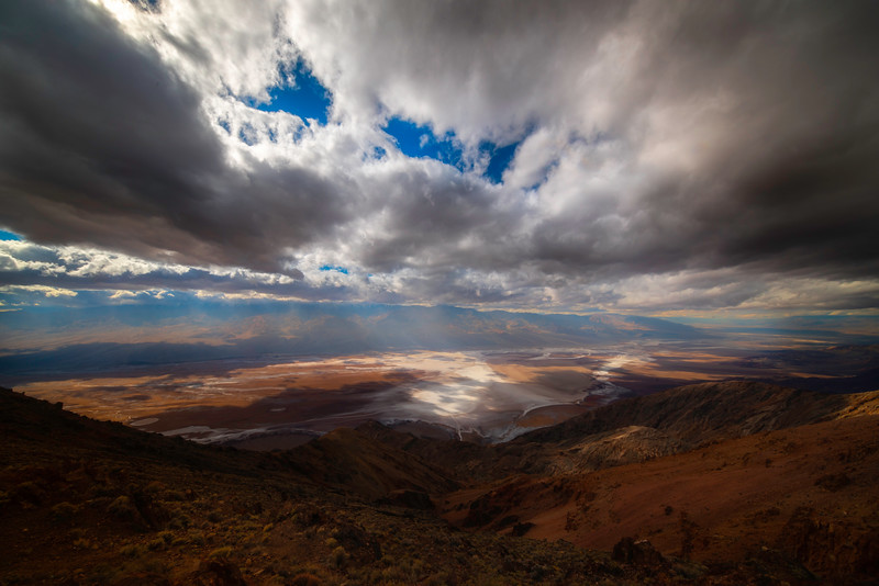 Storm Clouds Rolling Over Dantes View - Death Valley National Park, Eastern Sierras, California