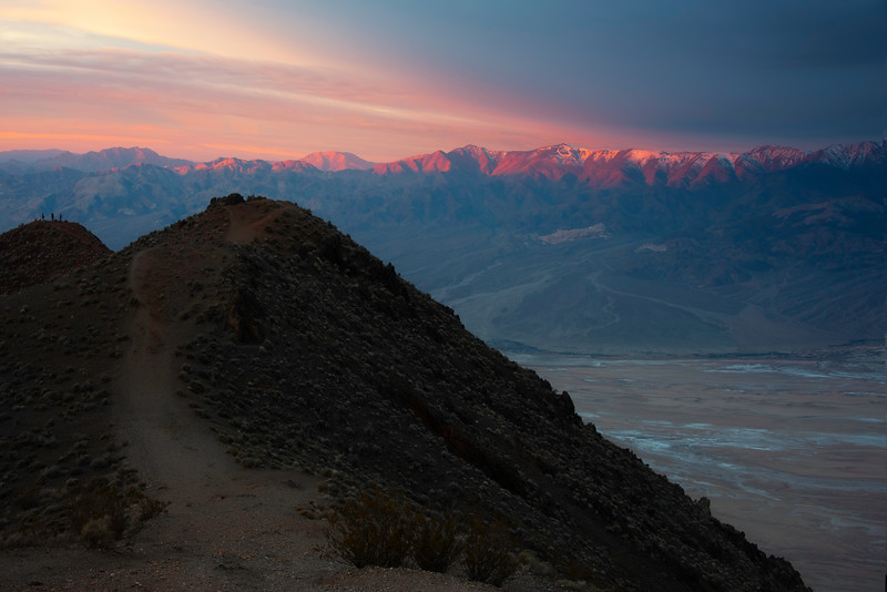 The View Of Telescope Peak From The Outcrop - Death Valley National Park, Eastern Sierras, California