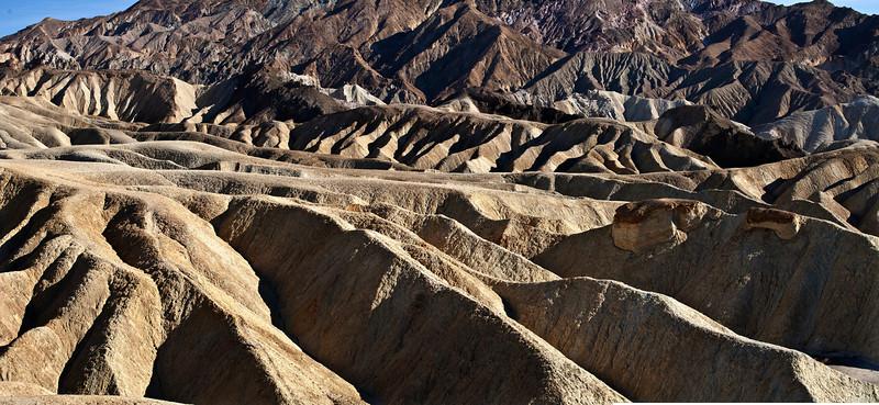 Zabrinski point Death Valley National Park.  Panorama
