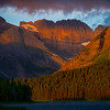First Morning Light From Swiftcurrent Lake - Swiftcurrent Lake, Many Glacier, Glacier National Park, Montana