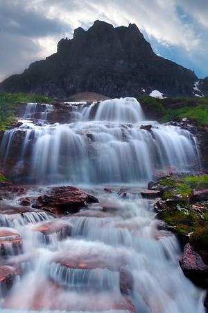 Logans Pass Dropdown Waterfall - Glacier National Park, Montana