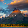 Scattered Light Bouncing Off The Peaks - Swiftcurrent Lake, Many Glacier, Glacier National Park, Montana