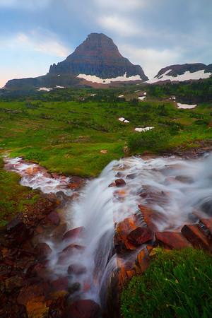 Cascading Falls - Logans Pass, Glacier National Park, Montana