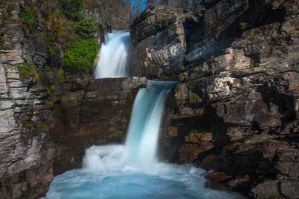 St Marys Delight -Saint Mary's Falls,  Glacier National Park, Montana
