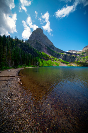 At The Turn In The Lake Grinnell Lake- Grinnell Lake,  Glacier National Park, Montana