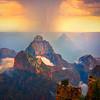 Thunder Showers And Sunset Colors Together - North Rim, Grand Canyon Nat Park, Arizona