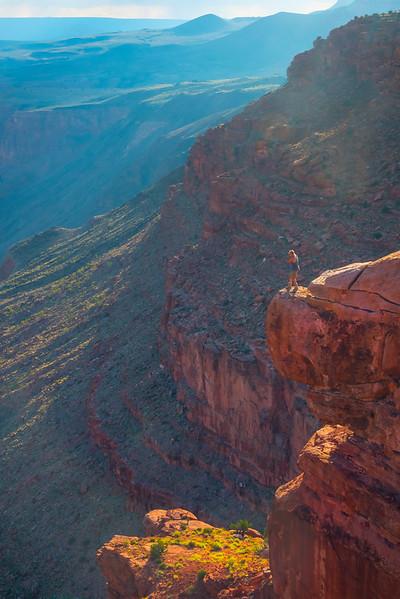 Mark On The Ledge - Toroweap Overlook, Grand Canyon Nat Park, Arizona