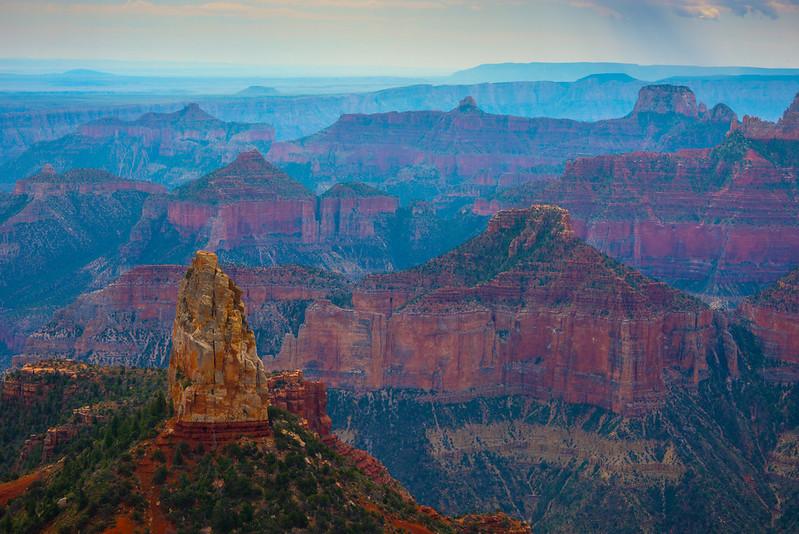 North Rim Peak From Point Imperial - North Rim, Grand Canyon Nat Park, Arizona