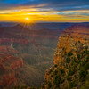 Sunrise Glow From Angel Window - North Rim, Grand Canyon Nat Park, Arizona