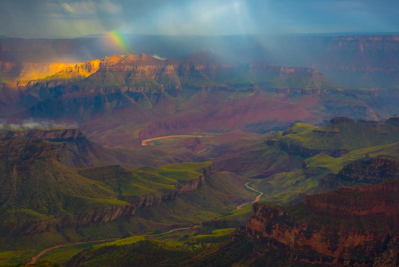 Base Of The Valley River - North Rim, Grand Canyon Nat Park, Arizona