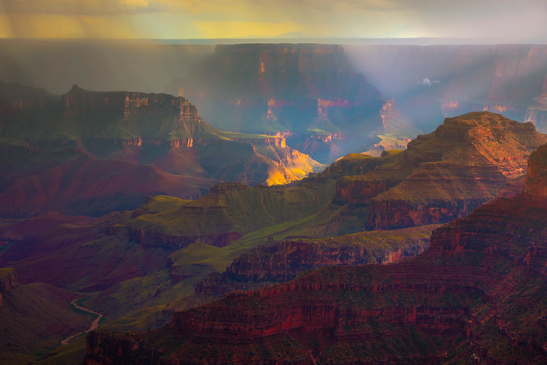The Valley Drifts And Light Of Grand Canyon - North Rim, Grand Canyon Nat Park, Arizona