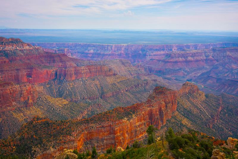 The Talls Walls Of Imperial Point On The North Rim - North Rim, Grand Canyon Nat Park, Arizona