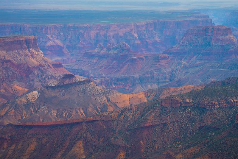 The Textures Of The Rock Face From Imperial Point - North Rim, Grand Canyon Nat Park, Arizona