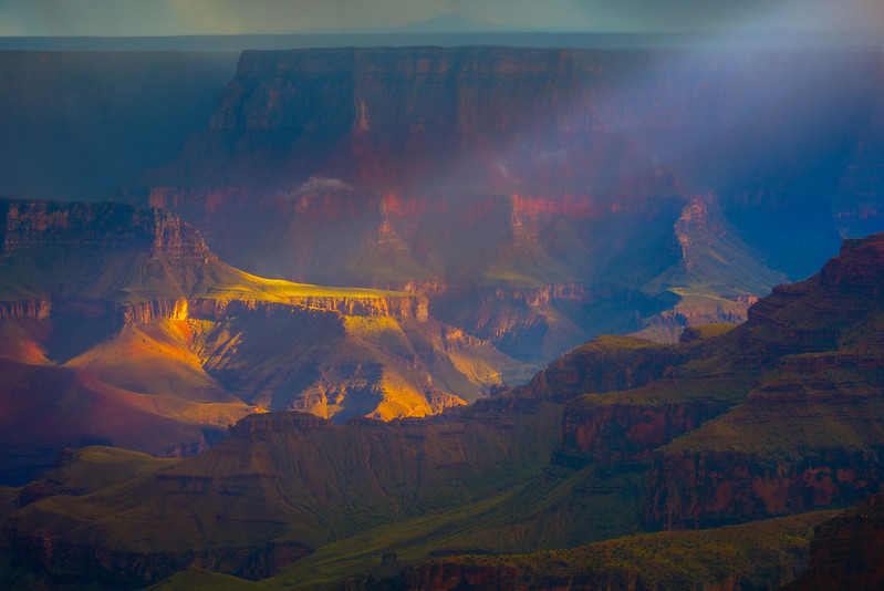 The Spotlight In A Storm - North Rim, Grand Canyon Nat Park, Arizona