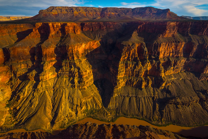 Looking Down At The Colorado River and the Grand Canyon - Toroweap Overlook, Grand Canyon Nat Park, Arizona