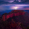 Wotans Throne Under Lightning - North Rim, Grand Canyon Nat Park, Arizona