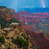 Lightining Strikes The Canyon Walls - North Rim, Grand Canyon Nat Park, Arizona