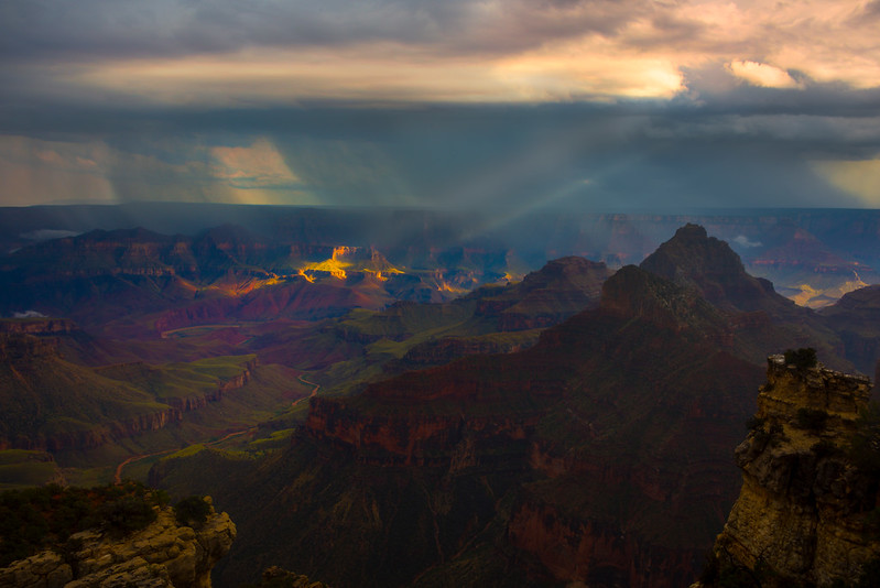 Looking At Light Come Through - North Rim, Grand Canyon Nat Park, Arizona