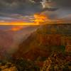 Looking Down The Barrel At Wotans Throne - North Rim, Grand Canyon Nat Park, Arizona