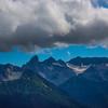 Surrounding Peaks Around Mt Rainier