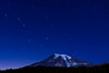 Mount Rainier and the Big Dipper star trails.