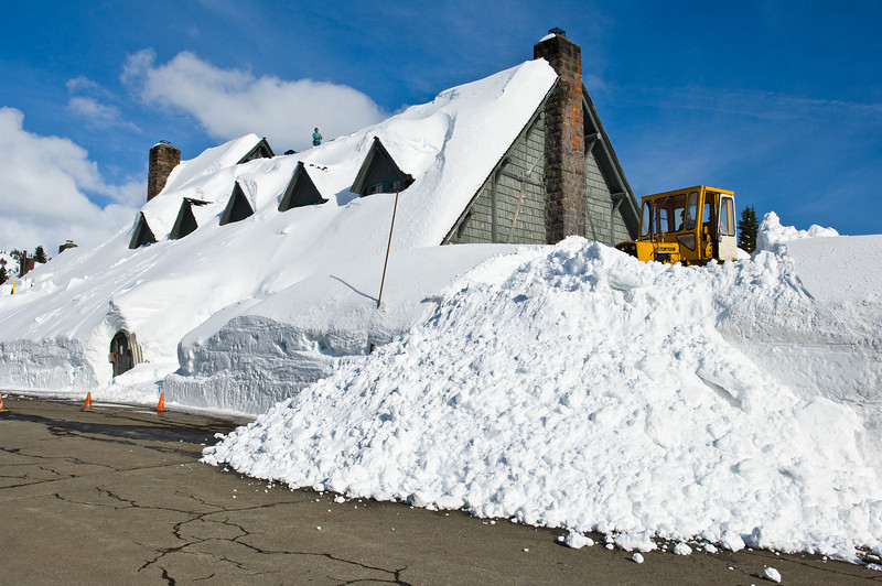 Digging out the Paradise Inn during the spring