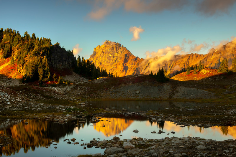 Mirror Moments From Last Light In The Cascades - North Cascades National Park, WA