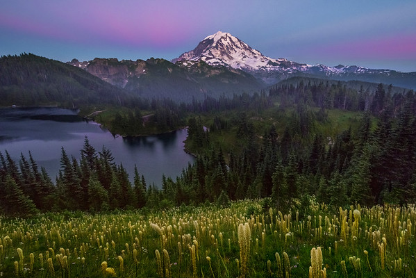 Tolmie Peak And Beginning Of Twilight -Tolmie Peak, Mount Rainier National Park, WA