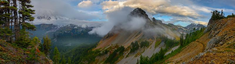 Pano From Plummer Peak Tarn Pinnacle Peak Trail, Plummer Peak, Mt Rainier National Park, WA