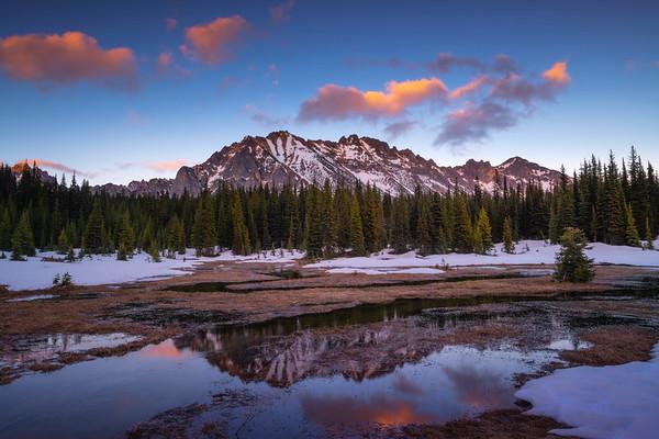 Reflections Of Washington Pass In Spring Pools - Washington Pass, - Diablo Lake Viewpoint, North Cascades National Park, WA