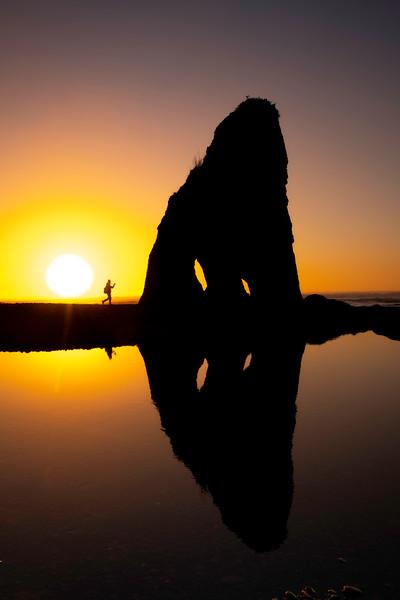 Walking In Silhouette